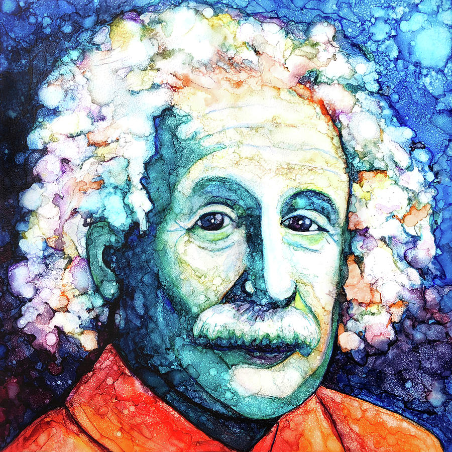 Painting of Einstein