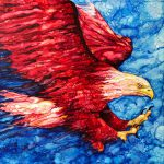 Painting of a bald eagle