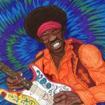 Ballpoint pens drawing of Jimi Hendrix