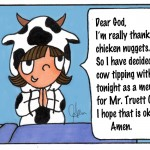 Cartoon in honor of Truett Cathy