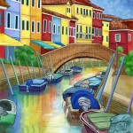 Burano, Italy - Digital Painting